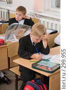 Купить «Первоклассники на уроке», фото № 299955, снято 14 мая 2008 г. (c) Федор Королевский / Фотобанк Лори