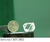 Купить «Алмаз и копейка», фото № 301983, снято 25 октября 2006 г. (c) Дмитриев Сергей / Фотобанк Лори