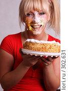 Купить «Маска из взбитых сливок», фото № 302631, снято 26 мая 2008 г. (c) Андрей Аркуша / Фотобанк Лори
