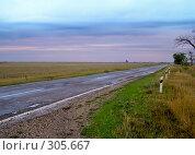 Купить «Дальняя дорога. Светает», фото № 305667, снято 15 декабря 2017 г. (c) Светлана Кучинская / Фотобанк Лори