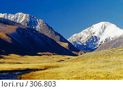 Купить «Горы на плато Укок в Республике Алтай», фото № 306803, снято 22 января 2018 г. (c) Гребенников Виталий / Фотобанк Лори