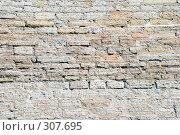 Купить «Каменная кладка восстановленного участка стены крепости», эксклюзивное фото № 307695, снято 17 мая 2008 г. (c) Александр Щепин / Фотобанк Лори