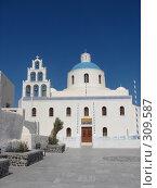 Купить «Греция. о. Санторини. г. Иа», фото № 309587, снято 29 июня 2006 г. (c) Елена Воронкова / Фотобанк Лори