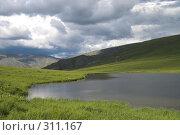 Купить «Полярный Урал. Озеро на перевале», фото № 311167, снято 3 августа 2007 г. (c) Роман Коротаев / Фотобанк Лори