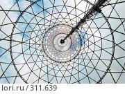 Купить «Шуховская башня (Москва, Шаболовка) изнутри», фото № 311639, снято 16 июля 2019 г. (c) Дмитрий Яковлев / Фотобанк Лори