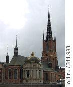 Купить «Риддархольмская церковь в Стокгольме», фото № 311983, снято 13 августа 2007 г. (c) Софья Краевская / Фотобанк Лори