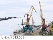 Купить «Ялта.Грузовой порт.», эксклюзивное фото № 313535, снято 2 мая 2008 г. (c) Дмитрий Неумоин / Фотобанк Лори
