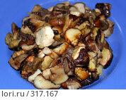 Купить «Жареные грибы», фото № 317167, снято 21 января 2019 г. (c) ElenArt / Фотобанк Лори