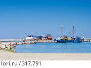Купить «Греческое рыболовецкое судно в порту Ретимнон», фото № 317791, снято 3 мая 2008 г. (c) Галина Лукьяненко / Фотобанк Лори