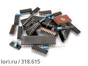 Купить «Компьютерные микросхемы», фото № 318615, снято 26 февраля 2008 г. (c) Денис Дряшкин / Фотобанк Лори