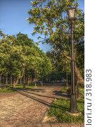 Купить «Фонарь в парке», фото № 318983, снято 19 августа 2018 г. (c) Сергей Иващенко / Фотобанк Лори