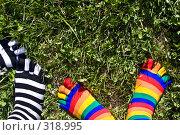Купить «Носки на фоне травы», фото № 318995, снято 8 июня 2008 г. (c) Суханова Елена (Елена Счастливая) / Фотобанк Лори