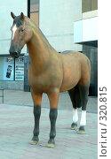Купить «Фигура лошади.  Караганда», фото № 320815, снято 22 сентября 2018 г. (c) Вера Тропынина / Фотобанк Лори