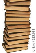 Купить «Много книг лежат на белом фоне», фото № 323691, снято 17 января 2008 г. (c) Останина Екатерина / Фотобанк Лори