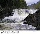Водопад Кивач (2004 год). Редакционное фото, фотограф Сергей Карцов / Фотобанк Лори