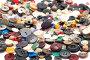Множество разноцветных пуговиц крупно, фото № 325227, снято 16 июня 2008 г. (c) Угоренков Александр / Фотобанк Лори
