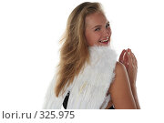 Купить «Девушка в образе ангела», фото № 325975, снято 1 июня 2008 г. (c) Наталья Белотелова / Фотобанк Лори