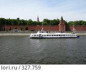 Купить «Теплоход на Москве-реке», фото № 327759, снято 9 июня 2008 г. (c) Юлия Селезнева / Фотобанк Лори