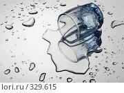 Купить «Перевёрнутая стопка водки», фото № 329615, снято 6 июня 2008 г. (c) Сергей Белов / Фотобанк Лори