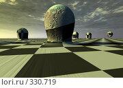 Купить «Абстрактный японский сад камней на клетчатом поле», иллюстрация № 330719 (c) Валерий Воронин / Фотобанк Лори