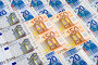 Фон из банкнот евро, эксклюзивное фото № 331635, снято 18 июня 2008 г. (c) Александр Щепин / Фотобанк Лори