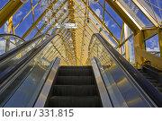 Купить «Интерьер крытого пешеходного Андреевского моста», фото № 331815, снято 18 июня 2008 г. (c) Эдуард Межерицкий / Фотобанк Лори