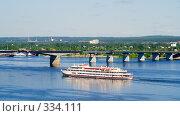 Коммунальный мост через Каму (2008 год). Редакционное фото, фотограф Александр Лядов / Фотобанк Лори