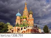 Купить «Собор Василия Блаженного. Москва», фото № 338791, снято 20 сентября 2018 г. (c) Николай Винокуров / Фотобанк Лори