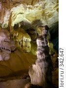 Купить «В Мраморных пещерах (Крым, Чатырдаг)», фото № 342647, снято 23 мая 2008 г. (c) Олег Титов / Фотобанк Лори