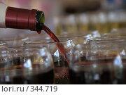 Купить «Вино льется», фото № 344719, снято 2 июля 2008 г. (c) Юля Тюмкая / Фотобанк Лори