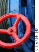 Купить «Красный вентиль», фото № 344843, снято 29 июня 2008 г. (c) Андрей Рыбачук / Фотобанк Лори