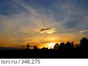 Закат. Стоковое фото, фотограф Aneta Vaitkiene / Фотобанк Лори
