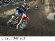 Купить «Мотокросс,  на вираже», фото № 348903, снято 5 июля 2008 г. (c) Талдыкин Юрий / Фотобанк Лори