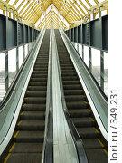 Купить «Эскалатор на Андреевском мосту в Москве», фото № 349231, снято 24 февраля 2008 г. (c) Владимир Воякин / Фотобанк Лори