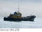 Купить «Утренний туман в порту города Новороссийска», фото № 351219, снято 3 июля 2008 г. (c) Федор Королевский / Фотобанк Лори