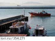 Купить «Утром в Новороссийском морском порту», фото № 354271, снято 3 июля 2008 г. (c) Федор Королевский / Фотобанк Лори