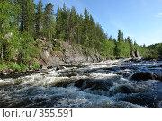 Купить «Бурлящая река», фото № 355591, снято 2 июля 2008 г. (c) Владимир Тимошенко / Фотобанк Лори