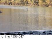 Купить «Бавария, долина города Бад Райхенхаль. Рыбак посреди горной реки Саалах.», фото № 356047, снято 16 октября 2005 г. (c) Павел Гаврилов / Фотобанк Лори