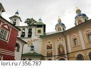 Купить «Свято-Успенский Псково-Печорский монастырь», фото № 356787, снято 18 августа 2007 г. (c) Евгений Батраков / Фотобанк Лори