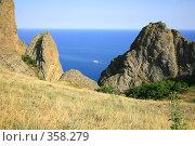 Купить «Карадаг. Вид на море», эксклюзивное фото № 358279, снято 27 июня 2008 г. (c) Наталья Волкова / Фотобанк Лори