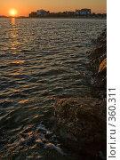 Закат солнца. Стоковое фото, фотограф Сергей Бондарук / Фотобанк Лори