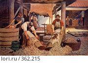 Купить «Кожевенный промысел. Старая открытка», фото № 362215, снято 17 июля 2008 г. (c) Zemlyanski Alexei / Фотобанк Лори