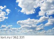 Купить «Небо с облаками», фото № 362331, снято 17 июня 2008 г. (c) Вероника Галкина / Фотобанк Лори
