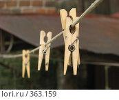 Купить «Прищепки», фото № 363159, снято 6 июля 2008 г. (c) Марат Кабиров / Фотобанк Лори