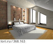 Купить «Современная спальня», иллюстрация № 368163 (c) Hemul / Фотобанк Лори