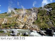 Купить «Долина гейзеров на Камчатке», фото № 368515, снято 14 августа 2004 г. (c) Оглоблин Андрей Николаевич / Фотобанк Лори