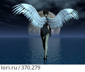 Купить «Девушка-ангел, идущая по воде», иллюстрация № 370279 (c) sav / Фотобанк Лори