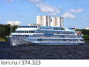 Купить «Теплоход Леонид Красин», фото № 374323, снято 27 июля 2008 г. (c) Валерий Назаров / Фотобанк Лори
