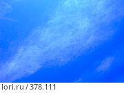 Купить «Легкие облака на небе», фото № 378111, снято 15 июля 2008 г. (c) Tyurina Ekaterina / Фотобанк Лори