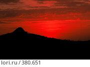 Закат в горах Симиена, Эфиопия (2008 год). Стоковое фото, фотограф Александр Волков / Фотобанк Лори